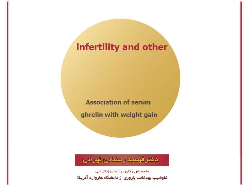 Association of serum ghrelin with weight gain